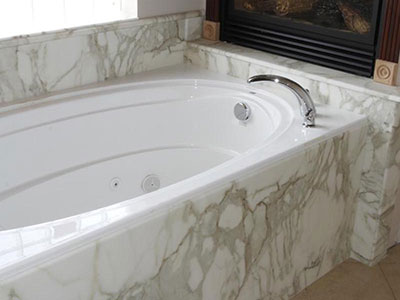Italy White Marble Bathtub