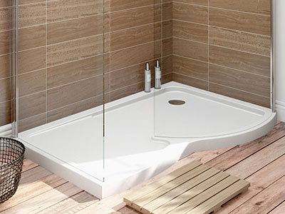 Acrylic White Shower Tray