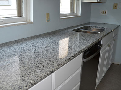 Azul Platino Granite Kitchen Countertops