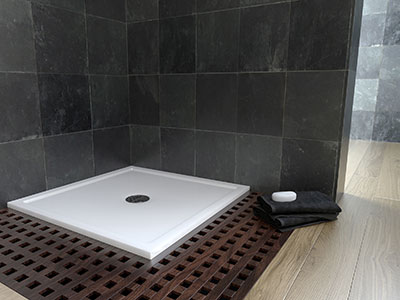 <b>White Marble Shower Tray</b>